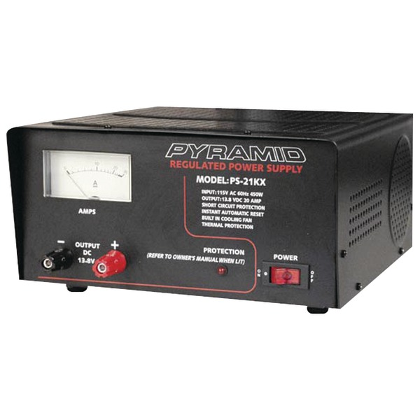 Pyramid(R) Car Audio PS21KX 18-Amp Power Supply with Built-in Cooling Fan
