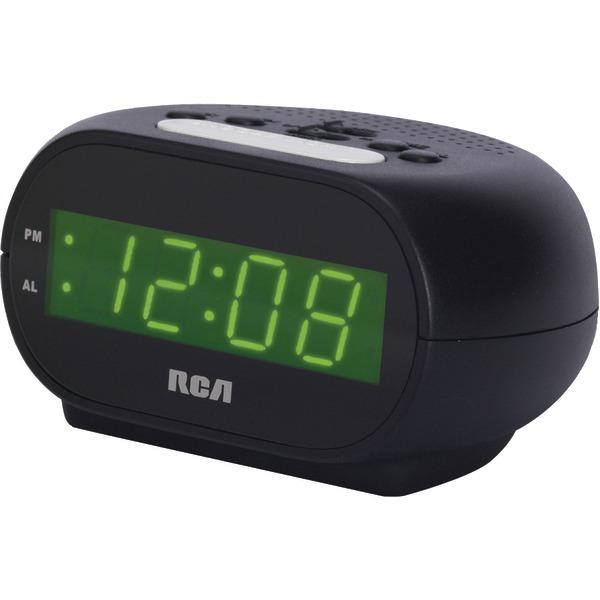 "RCA(R) RCD20 Alarm Clock with .7"" Green Display"