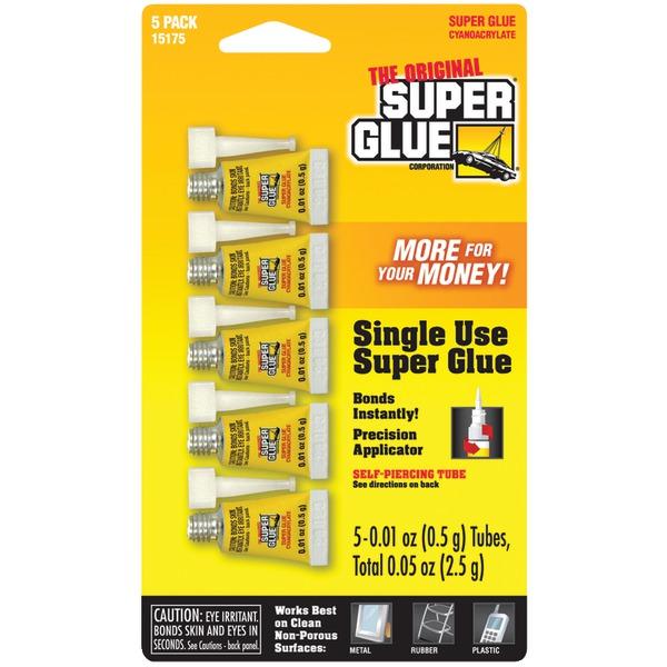 The Original SuperGlue(R) 15175-12 Instant Adhesive Mini Tubes, 5 pk