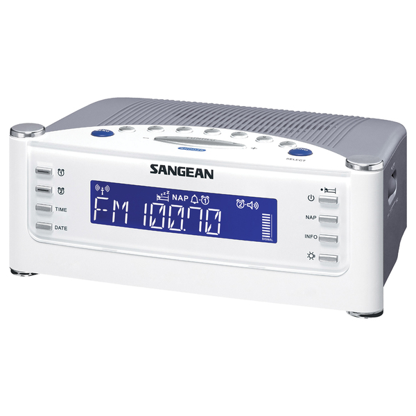 Sangean AM/FM Atomic Clock Radio with LCD Display - PET