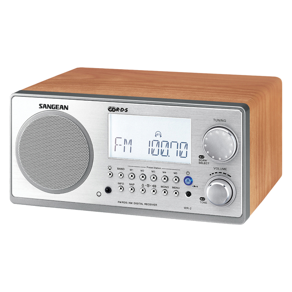 sangean wr2wal digital am fm stereo system with lcd. Black Bedroom Furniture Sets. Home Design Ideas