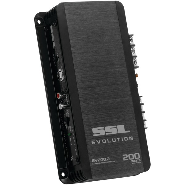Sound Storm Laboratories(R) EV200.2 EVOLUTION Series Full-Range 200-Watt 2-Channel MOSFET Class AB Amp (Black)