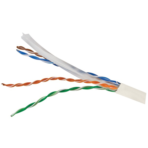 Vericom(R) MBW6U-01444 CAT-6 UTP Solid Riser CMR Cable, 1,000ft (White)