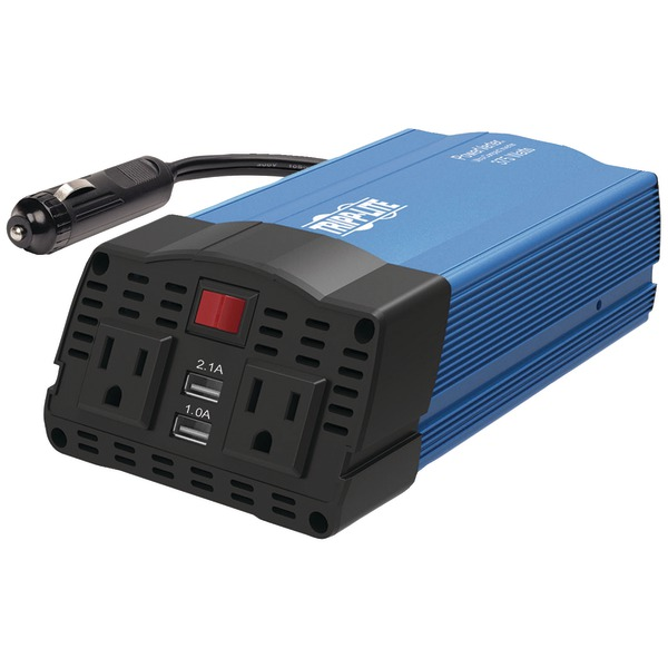 Tripp Lite(R) PV375USB 375-Watt-Continuous PowerVerter(R) Ultracompact Car Inverter with USB & Battery Cables