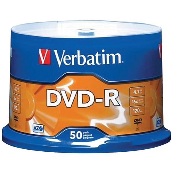 VERBATIM 95101 4.7 GB DVD-RS (50-CT SPINDLE) at Sears.com
