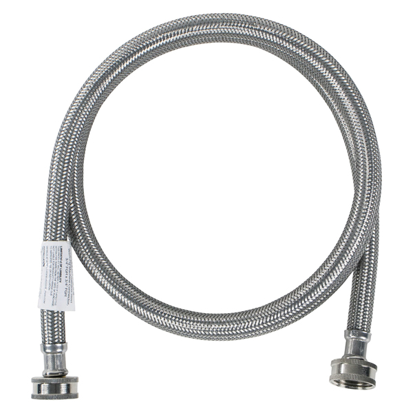Certified Appliance Accessories(R) WM48SS Braided Stainless Steel Washing Machine Hose, 4ft