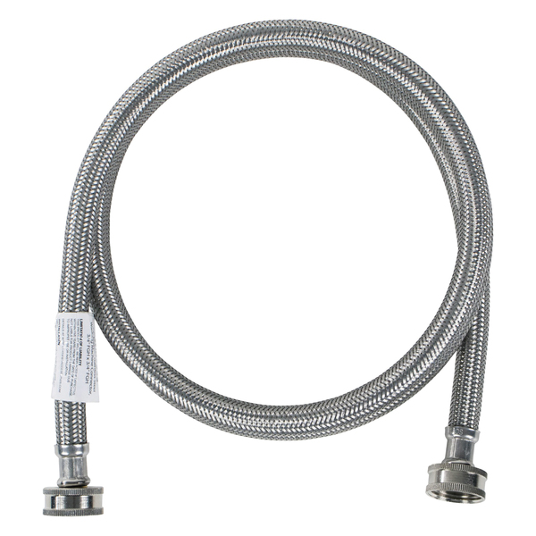 Certified Appliance Accessories(R) WM60SS Braided Stainless Steel Washing Machine Hose, 5ft