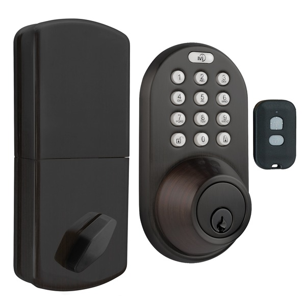 MORNING INDUSTRY INC QF-01OB 3-in-1 Remote Control & Touchpad Dead Bolt (Oil Rubbed Bronze)