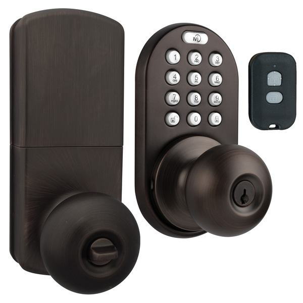 MORNING INDUSTRY INC QKK-01OB 3-in-1 Remote Control & Touchpad Doorknob (Oil Rubbed Bronze)
