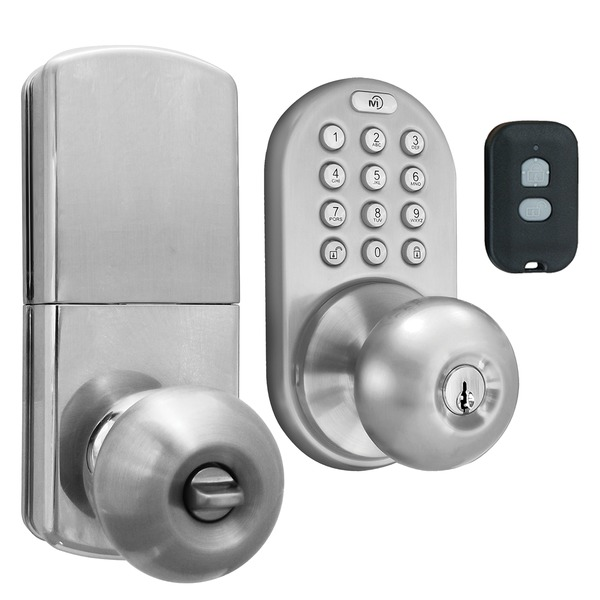 MORNING INDUSTRY INC QKK-01SN 3-in-1 Remote Control & Touchpad Doorknob (Satin Nickel)